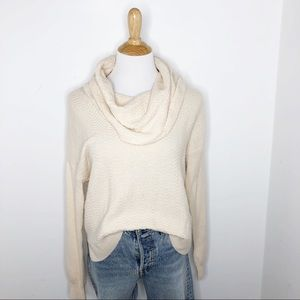 Joie Wool Cashmere Blend Cowlneck Cream Sweater